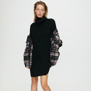 Aritzia Wilfred Free Bianca Sweater Dress Black